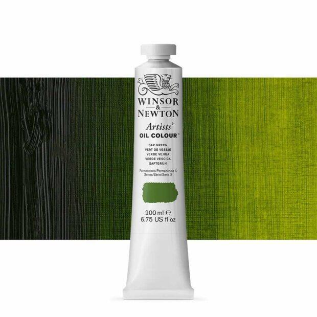 sap green oil paint